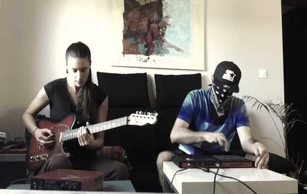 蒙面哥 MPC 与美女吉他手合作